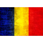 Romanian flag dirty effect