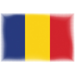 Romanian flag with halftone pattern