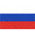 Russian flag with glowing dots