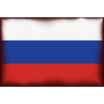 Russian flag halftone pattern