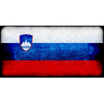 Slovenian flag with grainy texture