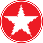 White star inside red circle