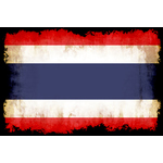 Thailand flag with burned edges
