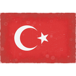 Turkish flag worn out
