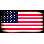 American flag with black edges