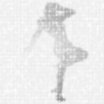 Grey silhouette of a woman