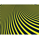 Curved yellow stripes